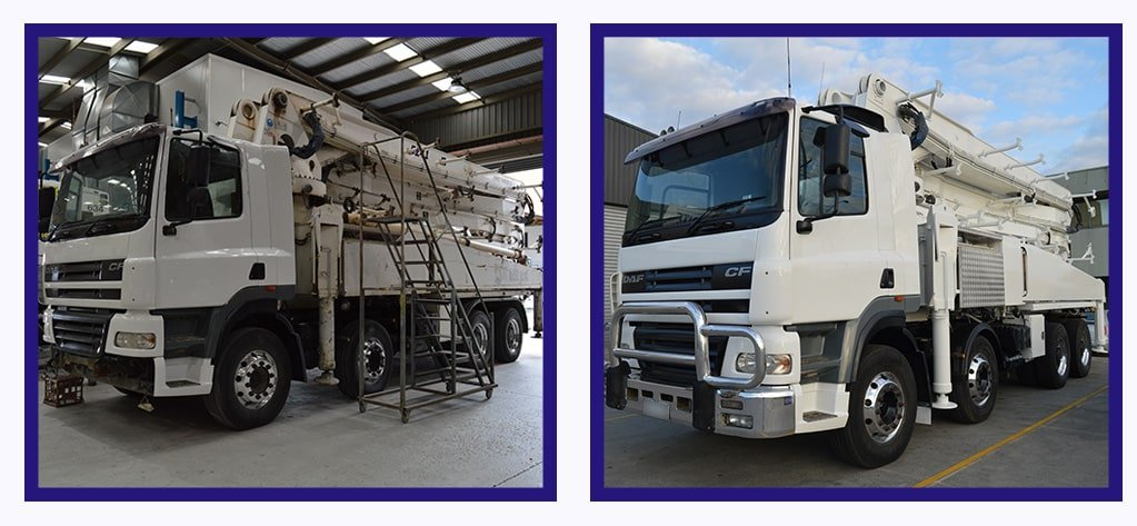 concrete pump truck repair