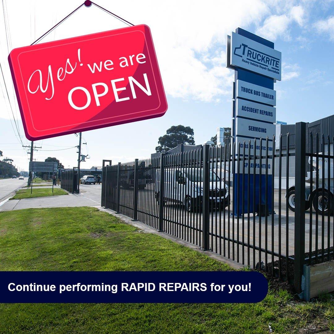 Open Bus repair lockdown